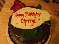 Cherryl's birthday cake