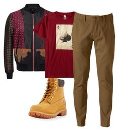"""Untitled #499"" by thickgurlsrus on Polyvore featuring Alexander McQueen, Timberland, X-Ray, Hollywood the Jean People, men's fashion and menswear"
