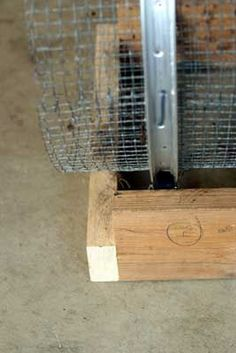 DIY Compost Sifter DIY Compost Sifter - Attached the box