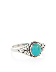 Sterling Silver Turq Chatuchak Ring   Blue   Accessorize