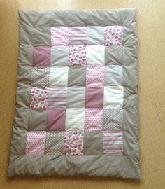 Krabbeldecke / Patchworkdecke in Pink/Taupe von Kristina´s Design auf DaWanda.com