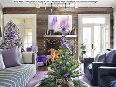 Decorar la Casa para Navidad con Tonos Lila Violeta ~ Diseño y Decoración del Hogar Design and Decoration