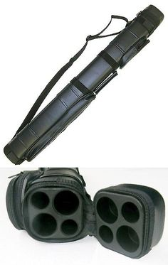 Cue Cases 21211: 2X2 Hard Pool Cue Billiard Stick Carrying Case, Black BUY IT NOW ONLY: $36.1