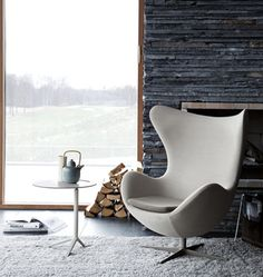 The classic Egg chair by Arne Jacobsen - not only beautiful but supremely comfortable