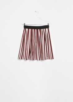 Striped wide skirt