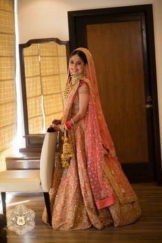 Get yourself dressed up with the latest lehenga designs online. Explore the collection that HappyShappy have. Select your favourite from the wide range of lehenga designs Designer Bridal Lehenga, Pink Bridal Lehenga, Sabyasachi Lehenga Bridal, Wedding Lehnga, Indian Bridal Lehenga, Wedding Wear, Bridal Dupatta, Pink Lehenga, Wedding Attire