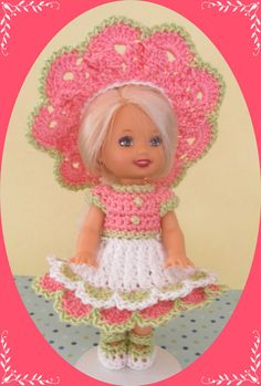 NO PATTERN : Handmade Crochet Kelly Doll Clothes by sweet ...