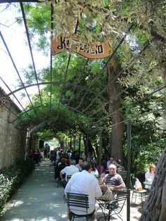 I love this little cafe tucked away in a corner of the National Gardens in Athens