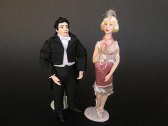 Bambola fatta a mano del 1920 in scala 1:12 per casa di bambole. Miniature by Paola&Sara Miniature - Bambole, Case di bambola, 1/12