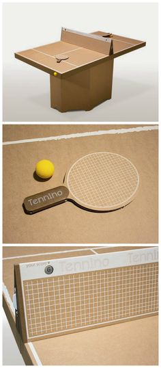 Tennino, A Cardboard Play Table Tennis