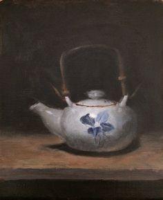 "Kyle Vincent Thomas  Japanese Teapot  10""x8"" Oil on linen mounted panel   www.kylevthomas.com"