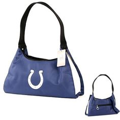 "Indianapolis Colts Purse / Handbag (Solid Blue, 12.5"" x 6"") by NFL. $17.95. 90-Day Satisfaction Guarantee. Officially Licensed NFL Apparel. Zip closure, external and internal pockets. Approximate Dimensions 9"" wide x 7"" high. Indianapolis Colts Solid Blue Handbag - Medium. Save 25%!"
