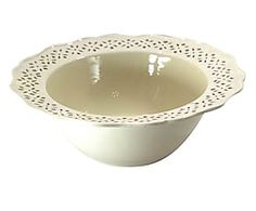 Insalatiera in ceramica Classic crema - 33x12x33 cm
