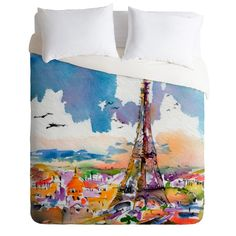 Ginette Fine Art Under #Paris Skies Duvet Cover | DENY Designs Home Accessories