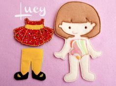 Felt Doll Lucy Doll Non Paper Doll Doll with by ChameleonGirls