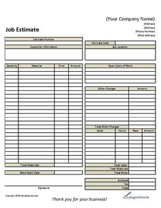 9 Best Images of Roofing Estimate Templates Printable - Blank Roofing Estimate Template, Free Roofing Proposal Forms and Free Printable Estimate Forms Templates