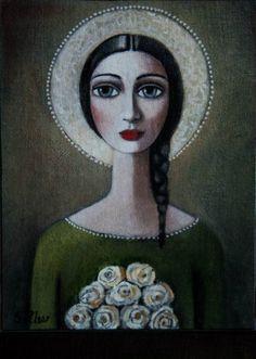 Sandra Pelser art Pictures To Paint, Art Pictures, Art Images, Woman Painting, Figure Painting, South African Artists, Aesthetic Painting, Portrait Art, Portraits