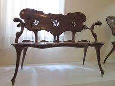 Antoni Gaudi Casa Batllo ~~ For more: - ✯… Art Nouveau Furniture, Art Furniture, Colour Architecture, Beautiful Architecture, Antonio Gaudi, Art Decor, Interior Design, Spain, Chairs
