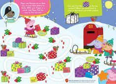 Can your preschooler help Peppa Pig & George find their way to the mailbox?