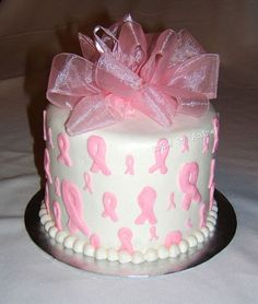 Pink Ribbon Cake by The Cake Chic, via Flickr
