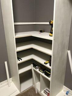 DIY Master Closet Makeover: Built-In Closet Organizer Closet Organization Diy, Mudroom Makeover, Home, Wire Closet Shelving, Closet Door Makeover, Master Bedroom Closets Organization, Closet Designs, Organize Closet Space, Build A Closet