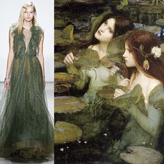 Who wore it better? Jenny Packham A/W 16 vs Hylas and the Nymphs (1896), John William Waterhouse