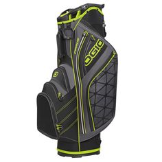 Weighing only 4.8 pounds these mens cirrus golf cart bags by Ogio feature a weather-resistant fleece lined valuables pocket with cell phone sleeve