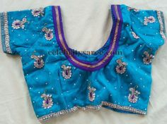 Pearls and Stone Work Blouses | Saree Blouse Patterns