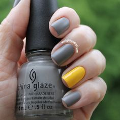 China Glaze Recycle and Happy Go Lucky with matte and shiny topcoats