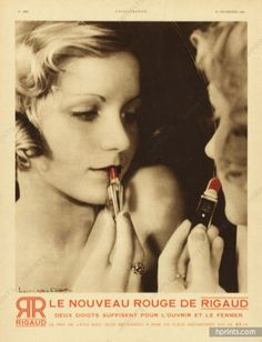 Brows, lashes, lips. #RED Cosmetics Ad, Paris, 1932
