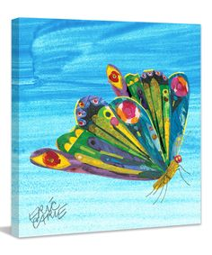 This Eric Carle Rainbow Butterfly Canvas Art Print by The World of Eric Carle is perfect! #zulilyfinds