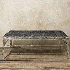"""Nota 60"""" Rectangle Coffee Table in Silver"""