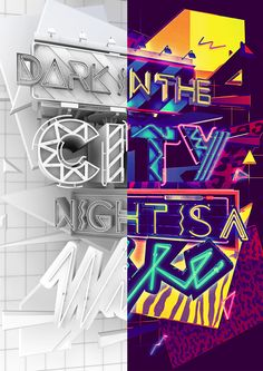 Dark In The City Night Is A Wire by ILOVEDUST , via Behance