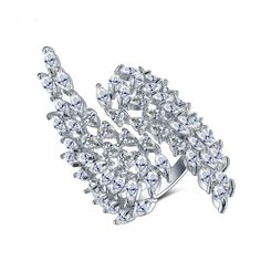 PrePiece New Angel Wings Crystal Open Rings for Women Silver Color CZ Big Ring Cuff Cocktail Bijou Fantaisie Femme 2017 Angel Wing Ring, Angel Wings, Fashion Rings, Fashion Jewelry, Women Jewelry, Cute Engagement Rings, Pendant Jewelry, Jewellery Earrings, Ring Necklace