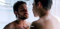 Connor and Oliver in the shower - Hot Surfer Guys, Conrad Ricamora, Tyler Posey Teen Wolf, Connor And Oliver, Hot Surfers, Sexy Military Men, Shirtless Actors, Rainbow Boys, Jack Falahee