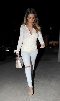 Kim Kardashian. i like her new simple style with lighter neutral colors