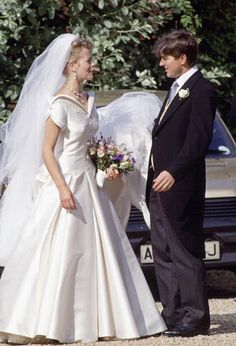 24b6a02500b91 Lady Helen Windsor And Tim Taylor On Their Wedding Day. Her Wedding Dress  Is Designed By Fashion Designer Catherine Walker. (Photo by Tim  Graham/Getty ...