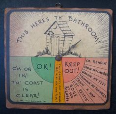 Wall Plaque for Outhouses
