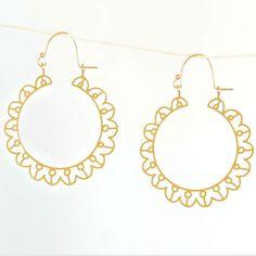 Sol Earrings by Kris Nations Jewels.