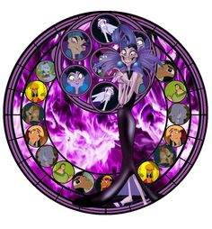 All Disney Characters Stained Glass | Downloads