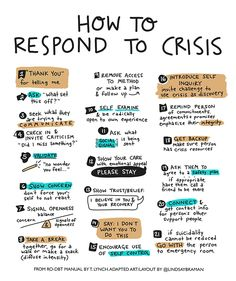 How to respond in a crisis Mental Health Help, Mental Health Nursing, Mental Health Crisis, Mental Health Resources, Mental And Emotional Health, Mental Health Matters, Mental Health Awareness, Mental Health Therapy, Working In Mental Health
