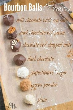 This is an authentic Kentucky Bourbon Balls recipe. They are rich smooth decadent and delicious! It's a Southern delicacy of a sweet boozy confection of sugar pecans and bourbon. Chocolates, Holiday Baking, Christmas Baking, Cupcakes, Candy Recipes, Dessert Recipes, Fudge Recipes, Bourbon Balls, Rum Balls