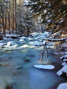 Montana winter river