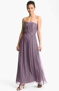 Donna Morgan Ruched Silk Chiffon Gown available at #Nordstrom. Such a beautiful dress. Only if they had it in my size