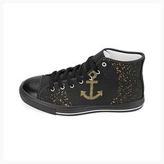 JC-Dress High Top Canvas Shoes Retro Anchor Women's Canvas Lace Up Sneaker (Model 017) (*Partner Link)