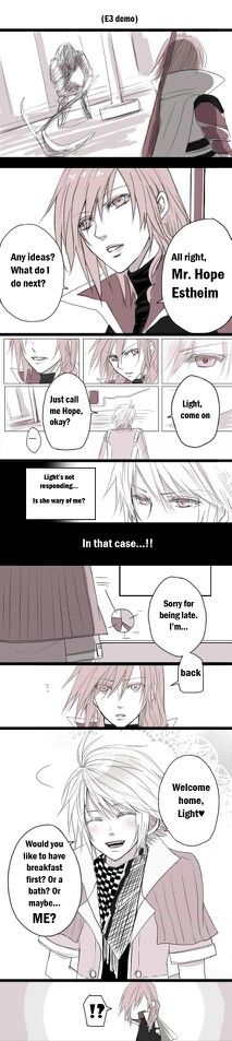 Lightning x Hope comic strip