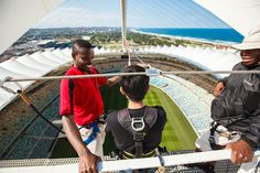 The Big Rush Big Swing - take the leap into the Moses Mabhida Stadium bowl. Swing, Adventure Bucket List, Kwazulu Natal, Leap Of Faith, Adventure Activities, Wanderlust Travel, Dream Vacations, South Africa, Attraction