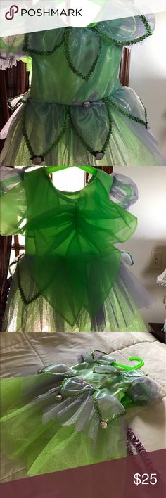 Baby girl Tinkerbell costume Lovely Tinkerbell costume with matching headpiece. Size is 12months Dresses Mini