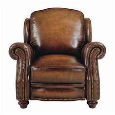 dante leather recliner chair | Chairs P199 Pushback Reclining Chair by Dante Leather