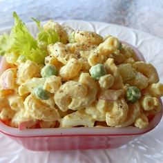 "Lower Fat Amish Macaroni Salad | ""Peas and eggs make this really tasty."""